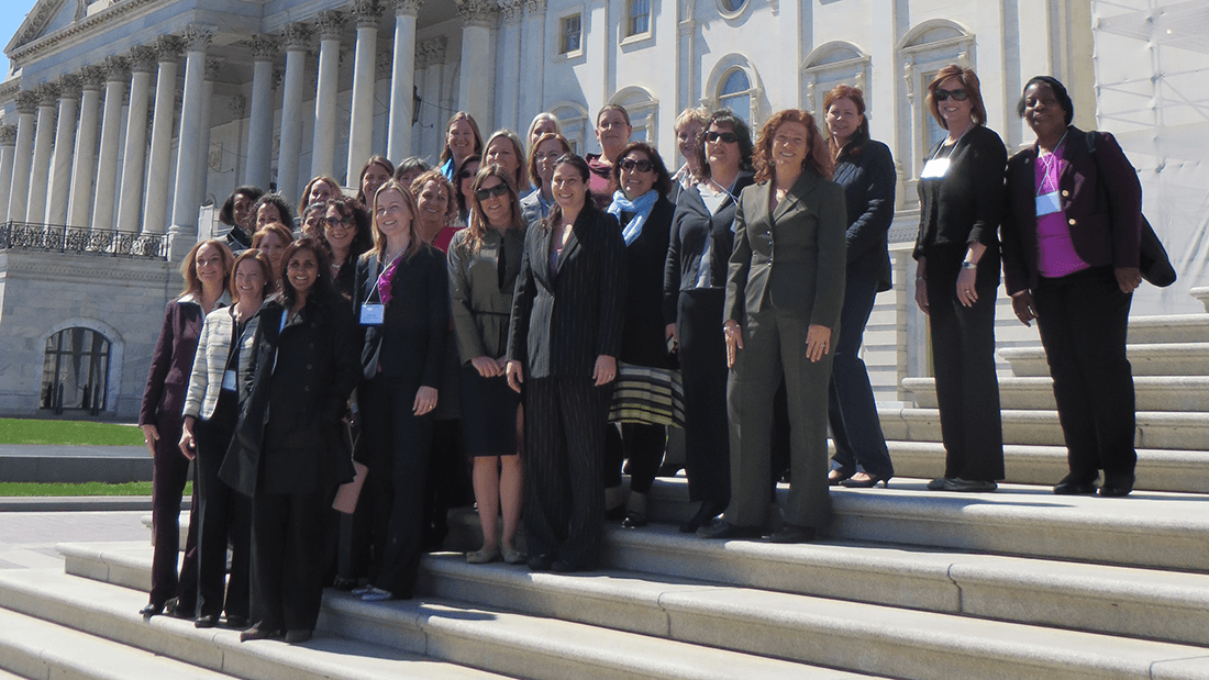 Members of the Leadership on Women in Psychology (LIWP) at the Capitol in November 2016 to talk to congressional staff about gender-responsive justice