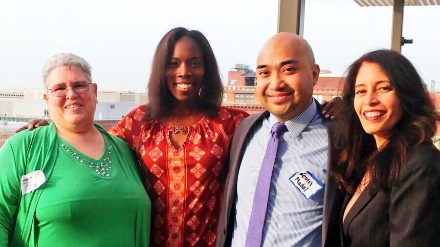 From left: Summit speakers Jacque Gray, PhD; Kevin Nadal, PhD; Thema Bryant-Davis, PhD; and Jeanett Castellanos, PhD