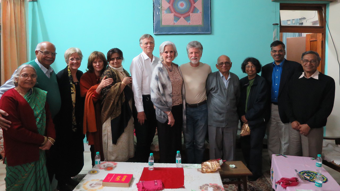 At the home of Janak Pandey, PhD, one of the fathers of psychology in India. In attendance in addition to our Indian colleagues were Polli Hagenaars and Ype Poortinga, colleagues from the Netherlands; my husband, David Siegel; and Merry Bullock, director of APA's International Office.