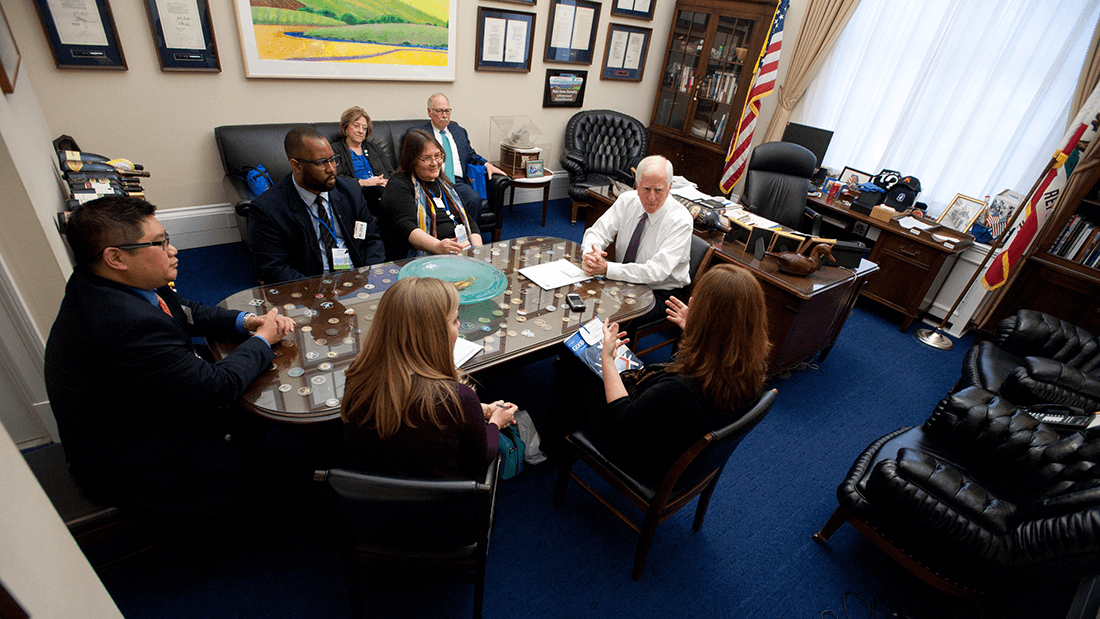 Rep. Mike Thompson (D-Ca.) meets with members of the California Psychological Association
