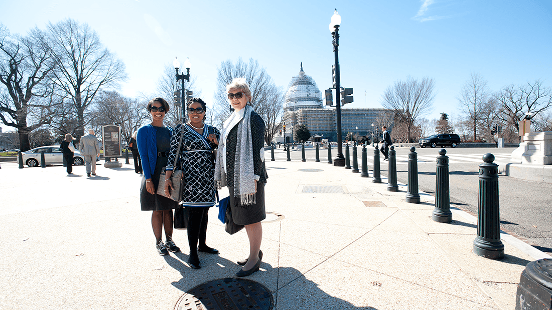 Members of the Georgia Psychological Association, ready for the Capitol Hill visit