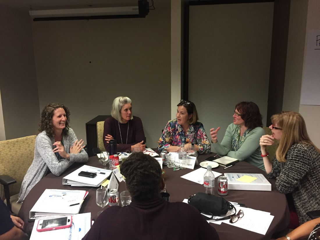 A break-out session at the LIWP training workshop in November