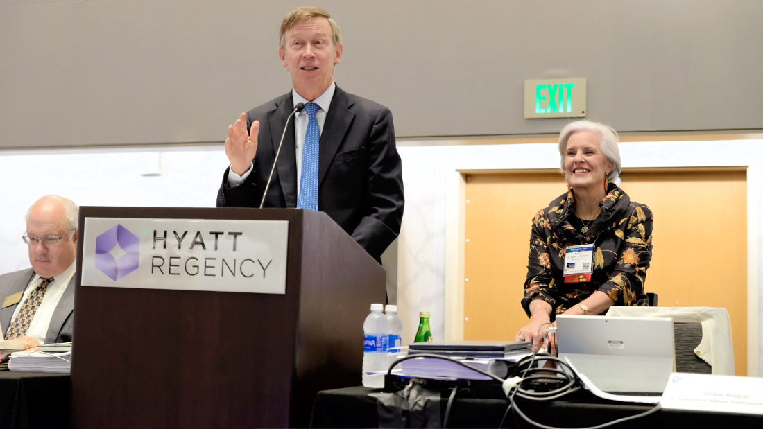 In his address to Council in August 2016, Gov. Hickenlooper spoke about the need to make prevention and treatment of mental illness a priority in Colorado and the country