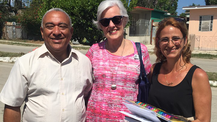 Dr. McDaniel with the psychologist and psychiatrist who run the community mental health center in Havana that the group visited.