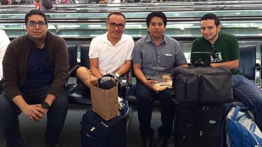 Mexican psychologists Gustavo Morelos Padilla-Gallegos, Quetzalcoatl Hernandez, Jesus Alejandre-Garcia, and Manuel Alejandro Mejia-Ramirez en route to 2016 APA convention
