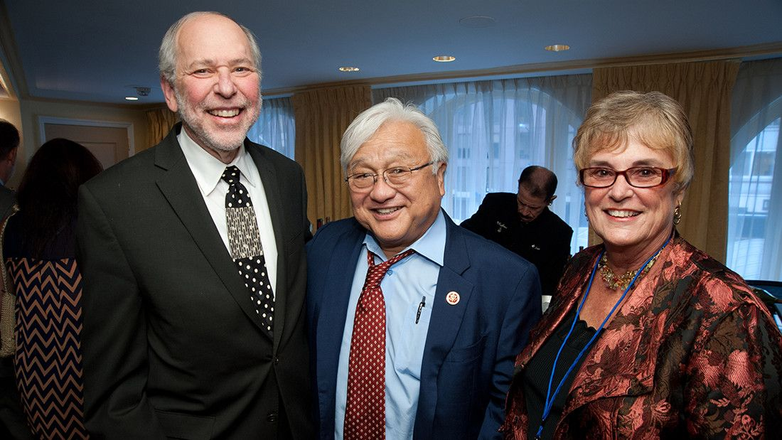 Cynthia Belar, PhD (right), former Rep. Mike Honda (center), and former APA President Donald Bersoff at an Education Leadership Conference reception in 2013 for Rep. Honda. Dr. Belar, APA's interim CEO in 2016, served as the executive director of the Education Directorate for 14 years.