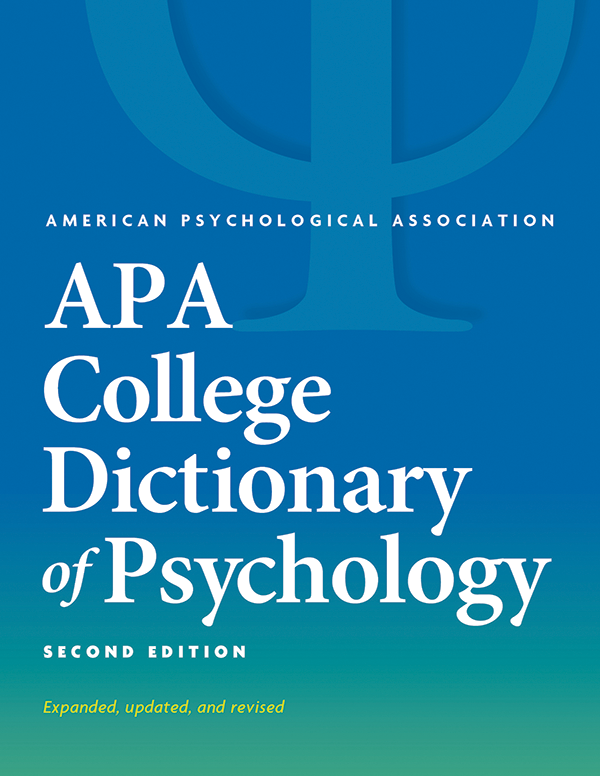 APA College Dictionary of Psychology, Second Edition cover